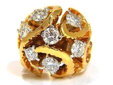 $9000 3.00CT NATURAL (7) DIAMONDS RAISED DOME VINE TWIST CLUSTER RING 14KT HEAVY