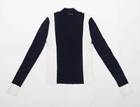 Zara Womens Size S Striped Blue Jumper (Regular)