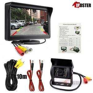 "Car Rear View Kit 4.3"" Monitor + 18 LED IR Reversing Backup Camera+33Ft AV Cable"