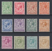 GV 1924 BLOCK CYPHER SET OF 12 TO 1/- MOUNTED MINT,  AS SCANS DD237