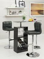 Black Bar Table Set with Adjustable Bar Stool Chairs by Coaster 120451-102554