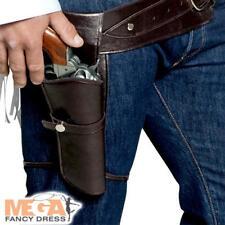 Pistolero Cinturón Y Funda Para Hombre Vestido Elaborado Disfraz Adultos Salvaje Oeste Vaquero Set Nuevo