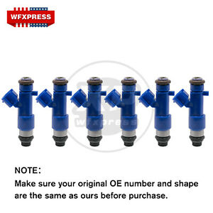 6x New 550cc Fuel Injectors For Denso Infiniti G37 Nissan GT-R 63570 14002-AN001