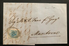 1856 Trieste Italy Austria Empire Vintage Letter cover To Mantoval