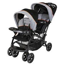 Baby Trend Sit N Stand Travel Toddler & Baby Double Stroller, Millennium Orange