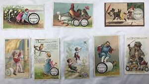 Set of 8 ONT & Mile End Sewing Thread Victorian Cards