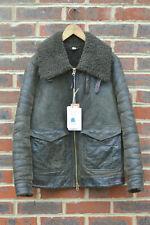 *STUNNING* Burberry Brit Ladies Shearling sheepskin Aviator Jacket UK6 US4 Biker