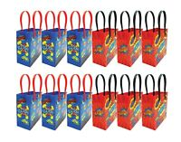 Superhero Text Party Favor Bags Treat Bags, 12 pack