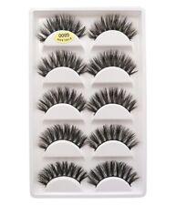 5 Pairs 3D Mink Eyelashes Thick Handmade Natural False Lashes Wispy New Styles