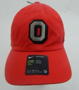Ohio State Hat Nike Heritage86 Red Adjustable Unisex Dri fit