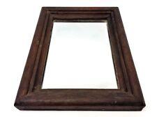 Dark Brown Distressed Hallway Bedroom Small Mirror Decorative Decor Vintage Used