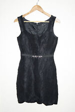 Max and cleo fashion designer party cocktail robe noire côtelé taille 6 rrp 148 $