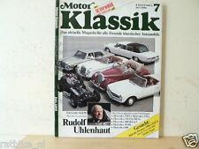 MOTOR KLASSIK 8607-MERCEDES SPECIAL,170S,220A,230,250,280SL,300SEL,INDIAN SCOUT,
