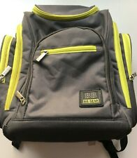 Bb Gear - 8 Pocket Diaper Backpack - Black/Green - Baby Toddler Gear-Diaper Bag
