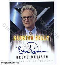 X-Men 1 Movie Bruce Davison as Senator Kelly Marvel Topps Autograph Trading Card
