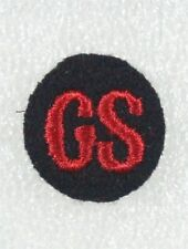 """Canadian Army """"GS"""" - General Service cloth sleeve badge, red on black"""