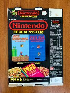 1988 Nintendo Cereal System Rare Vintage Cereal Box Excellent NES Mario Zelda