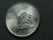 UNITED STATES 25 Cents 2005 P UNC KANSAS