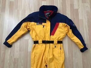 Obermeyer Vintage 90s Color Block Snow Bib Ski Suit Snowsuit Womens 14 L / XL