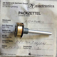 POTENCIOMETRO 00,1K AW R 100Ohm +-10% LIN AB ELEKTRONIK TT - Made in Germany