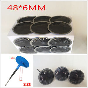 24Pcs Blue Natural Rubber Tyre Puncture Repair Wired 48*6 mm Plug Mushroom Patch