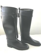 BURBERRY ROSCOT  BLACK WATER RESISTANT WOMEN US SIZE 9.5M RIDING BOOTS
