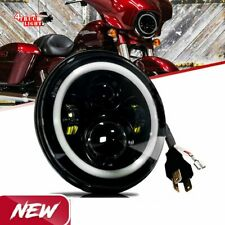 75W 7 inch LED Projector Headlight fit Honda Kawasaki Motorcycle Yamaha Safety