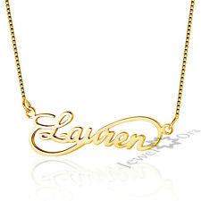 Customized DIY Any Name Necklace 925 Sterling Silver Pendant Infinity Necklaces