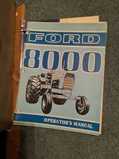 Ford 8000 9700 8700 Operators Owners Manual Tractor Maintenance Lubrication