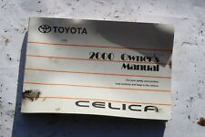 2000 TOYOTA CELICA FACTORY OWNERS MANUAL