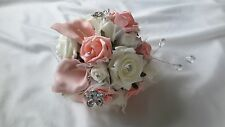 Bride/Bridesmaid Peach & Cream Artificial Bouquet