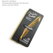Bookmark Golden feather- Symbol of honor and respect Gold-plated Stainless Gift