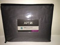 APT.9 Twin Bed Skirt Solid GREY Sateen NEW in Package Bedding Decor