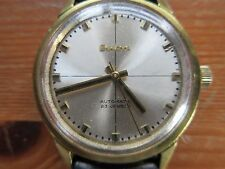 Vintage Gold Plated Gents Bulova Automatic Wristwatch