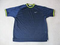 VINTAGE Nike Shirt Adult Extra Large Blue Yellow Swoosh Mesh Jersey Mens 90s *