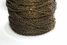 15ft Brass Antique Bronze 2.5x1mm Cable Chain links 1-3 day Shipping