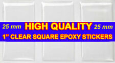 "100 QTY - HIGH QUALITY 25mm 1"" Inch SQUARE EPOXY STICKER Dome Pendant Resin Seal"