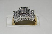 Sz 7.5 14k White and Yellow .66ctw Diamond Ring. $2,500 Value.