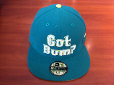 Bleacher Bum Collectibles Hat Cap New Era 7 3/4 Fitted 59Fifty Green Gold Custom