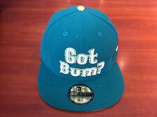 Bleacher Bum Collectibles Hat Cap New Era 7 3/4 Fitted 59Fifty Green Gold Custom