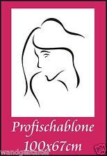 Schablone, Wandschablone, Wandschablonen, Malerschablone, Stencil, Frauengesicht