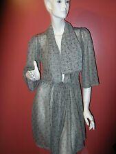Wendy Glez Robe Size Small drape front 3/4 sleeve robe loungewear Small NEW!!