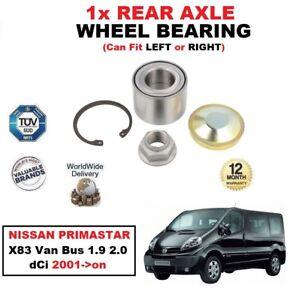 FOR NISSAN PRIMASTAR X83 Van Bus 1.9 2.0 dCi 2001->on 1x REAR AXLE WHEEL BEARING