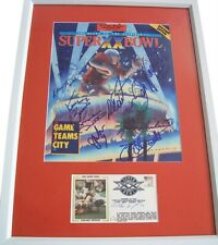 1985 Bears team signed SB 20 framed Dent Ditka Hampton McMahon Perry Singletary