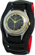 Stowa Parat Germany mechanische Herrenuhr Uhr Unterlagenband schwarz 17 Steine