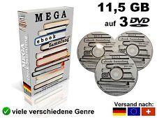 11,5 GB  ? ebooks MEGASAMMLUNG auf 3 DVD's ebook NEU Sammlung für PC Reader etc.