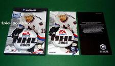 NHL 2005 ben tenuto con istruzioni e scatola originale F. NINTENDO GAMECUBE COMPLETO