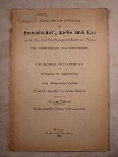 Freundschaft Liebe Ehe Auseinandersetzung Kant Fichte Dissertation Lukas Vietor