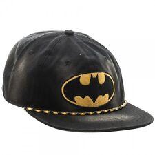 DC COMICS BATMAN LOGO WASHED UNSTRUCTURED 6 PANEL SNAPBACK HAT CAP ADJUSTABLE