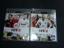 lot 2 Jeux vidéo football FIFA 11 et FIFA 12 pour PS3 Playstation